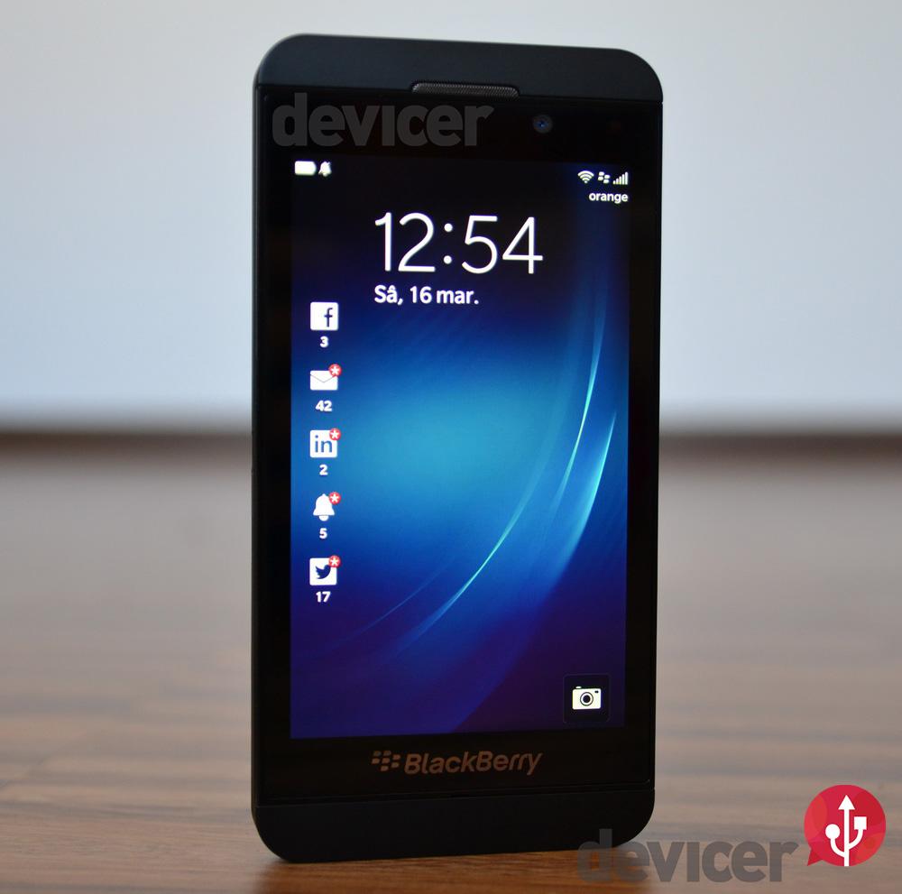 BlackBerry Z10 Notifications on lockscreen