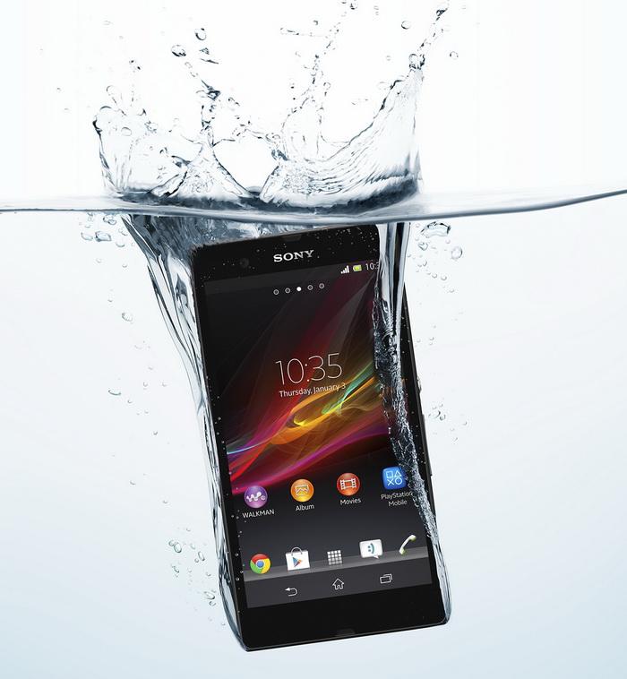Sony Xperia Z in Water