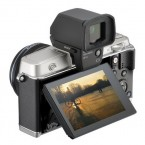 Olympus PEN E-P5 angle with viewfinder silver