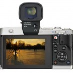 Olympus PEN E-P5 back with viewfinder silver
