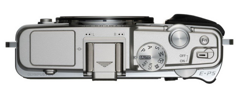 Olympus PEN E-P5 top view white
