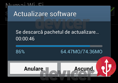 Samsung Galaxy S4 devicer.ro firmware update downloading