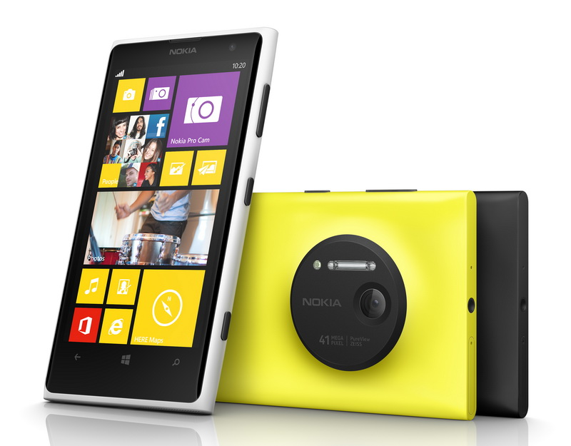 Nokia lumia 1020 color range front back