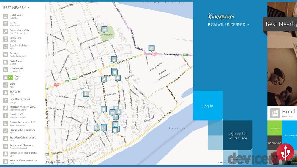 foursquare pe windows 8 in app
