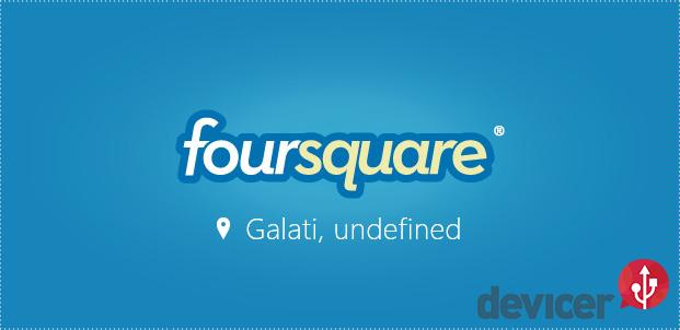 foursquare pe windows 8