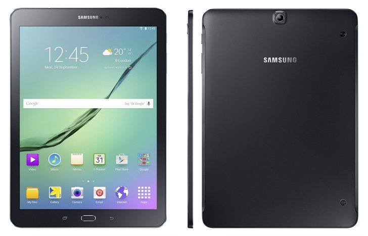 Galaxy Tab S2_Black_front_back_side