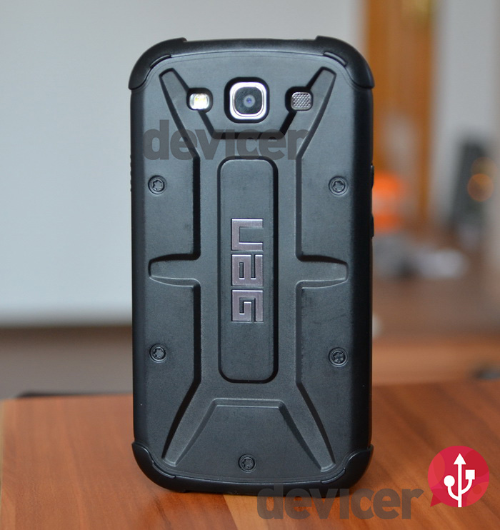 UAG URBAN ARMOR GEAR BLACK HARD CASE galaxy S III back