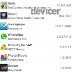 BB 10 OS Apps permisions
