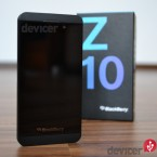 BlackBerry Z10  front with box
