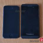 BlackBerry Z10  versus iphone 5 front