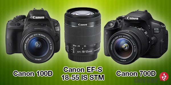 Canon 100D 700D ef-s 18-55 is stm