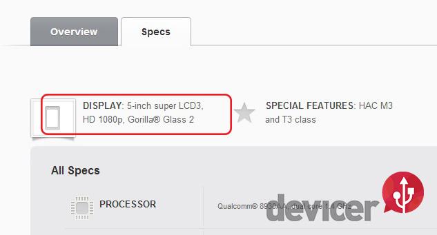 HTC First FHD 1080p
